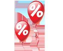 Prozente-Ballon-210